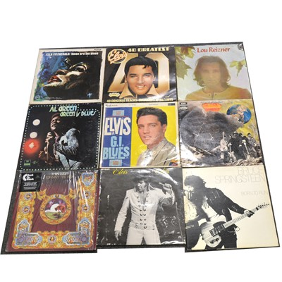 Lot 13-One box of mixed vinyl LP records; aprox seventy-three