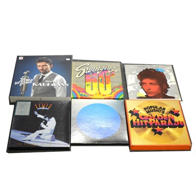 Lot 45-Music LP and CD box sets; Thirteen to include Led Zeppelin, The Beatles etc.