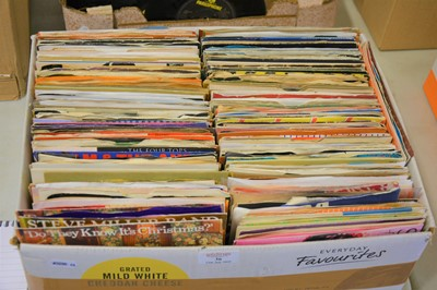"Lot 36-A box of aprox 250 mixed 7"" single records, including Adam and the Ants, Culture Club, Cilla Black and others."