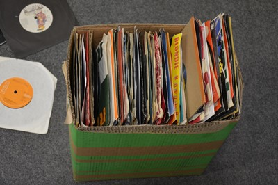 "Lot 29-A box of aprox 350 mixed 7"" single records, including Roxy Music, Patti Smith, Bronski Beat, Siouxsie and the Banshees, The Beach Boys, Status Quo, Liam Frost ect."