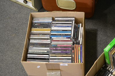 Lot 48-Two boxes of mostly Pop and Rock music CDs.