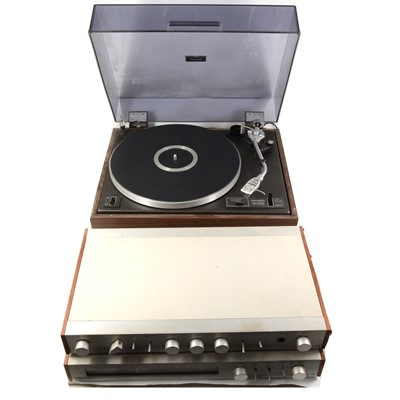 Lot 51-Audio equipment; A PL-12D Pioneer turntable, P50 Cambridge Audio stereo amplifier, T45 Cambridge audio FM radio tuner.