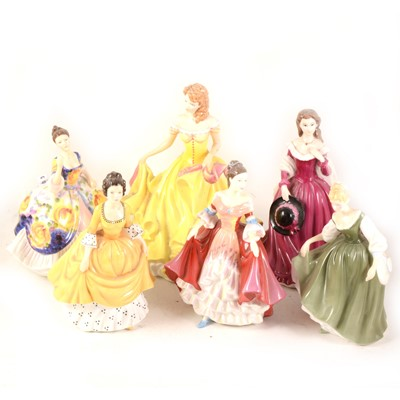 Lot 1020-Eleven Royal Doulton figurines and another