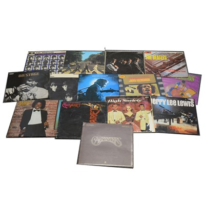 "Lot 24-Small collection vinyl records, including The Beatles, The Rolling Stones and a small quantity of 7"" singles."