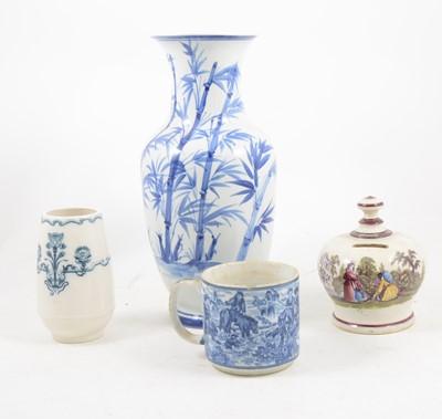 Lot 1050-A quantity of Mason Ironstone dishes, decorative vases, etc