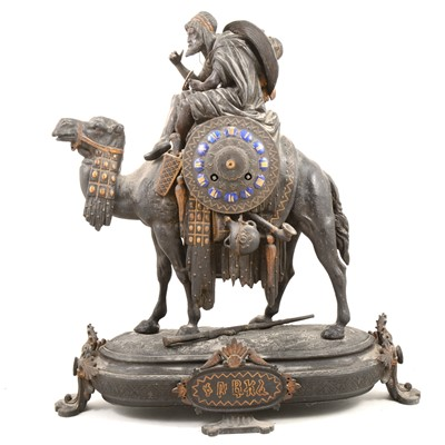 Lot 1411 - Late 19th Century mantel clock