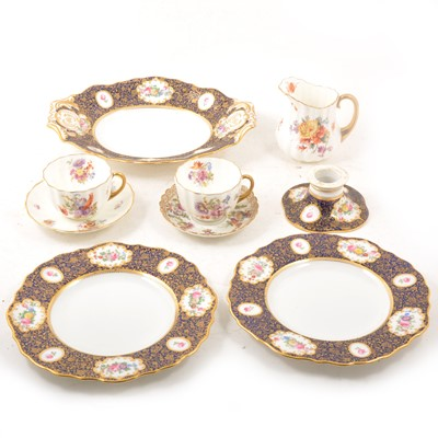 Lot 44 - Two part dessert and tea services, including Copeland Spode for Waring and Gillow Ltd