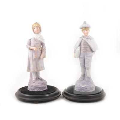 Lot 44 - Pair of Continental bisque porcelain figures.