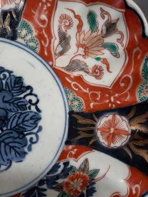 Lot 19-Five Imari plates and dishes