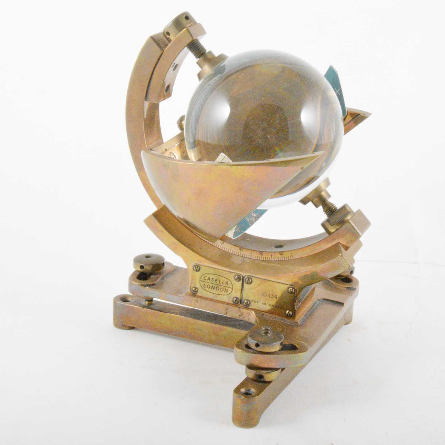 Lot 236 - A Campbell Stokes type Sunshine recorder, Casella, London