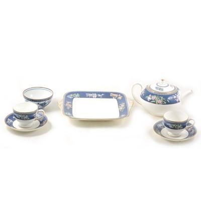 Lot 33-Wedgwood bone china teaset, blue Siam; and other ceramics.