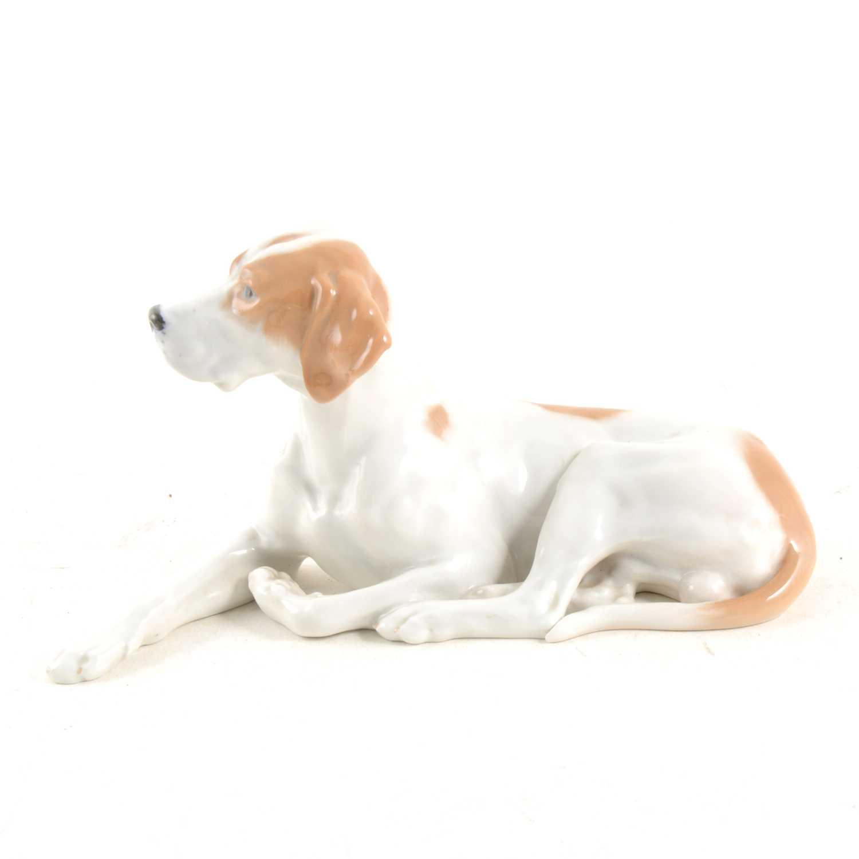 Lot 8-A Royal Copenhagen recumbent pointer dog, Model 1635