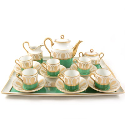 Lot 45-An Italian porcelain coffee service on a matching tray
