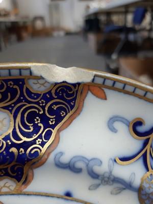 Lot 34-Extensive Davenport stone china dinner service