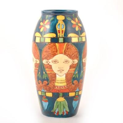Lot 529-A 'Harjian' ware pottery vase by Foley Art China, circa 1895