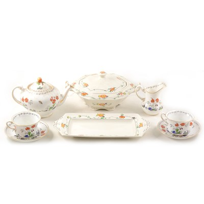 Lot 35-Alfred Meakin earthenware dinner service, Chatham pattern; and other china