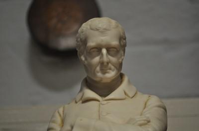 Lot 19-A Coalbrookdale Parian figure, Duke of Wellington