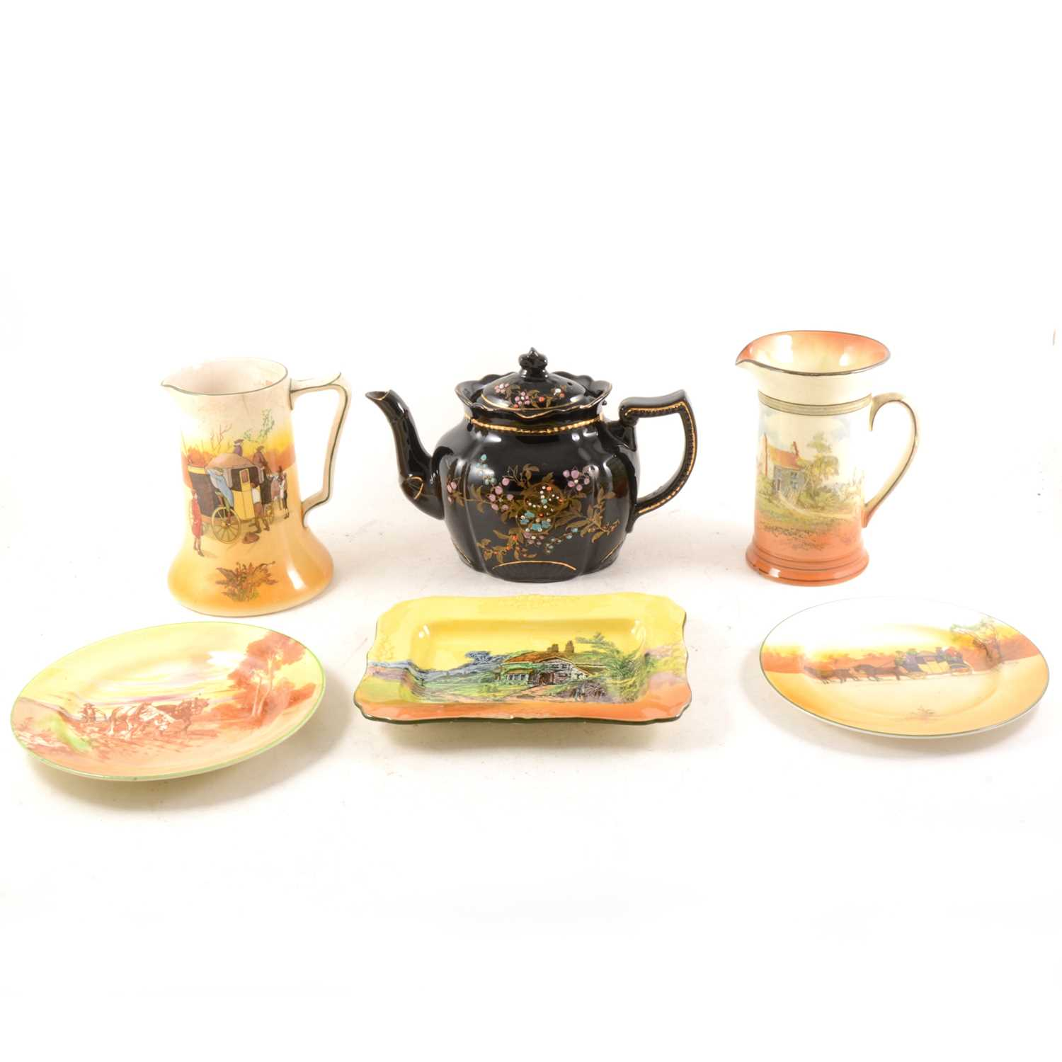 Lot 41-A quantity of Royal Doulton seriesware, teapots and other ceramics.