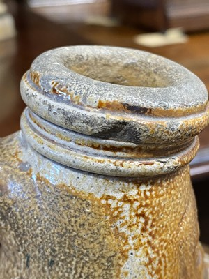 Lot 28-A stoneware Bellarmine jug, probably English, late 17th or 18th century