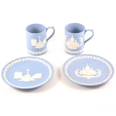 Lot 57 - A collection of Wedgwood blue jasperware