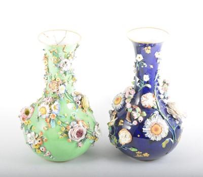 Lot 53 - Two Continental porcelain vases