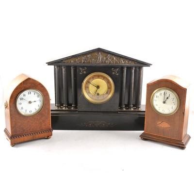 Lot 119 - Three Edwardian mantel clocks