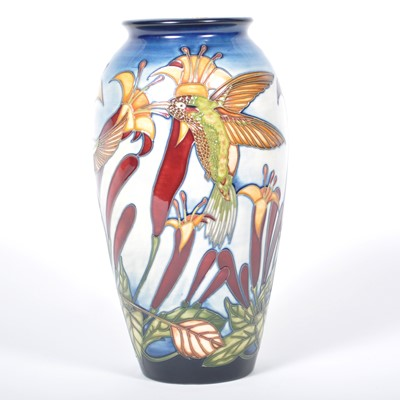 Lot 550-A Moorcroft Pottery vase, 'Sweet Nectar' by Paul Hilditch