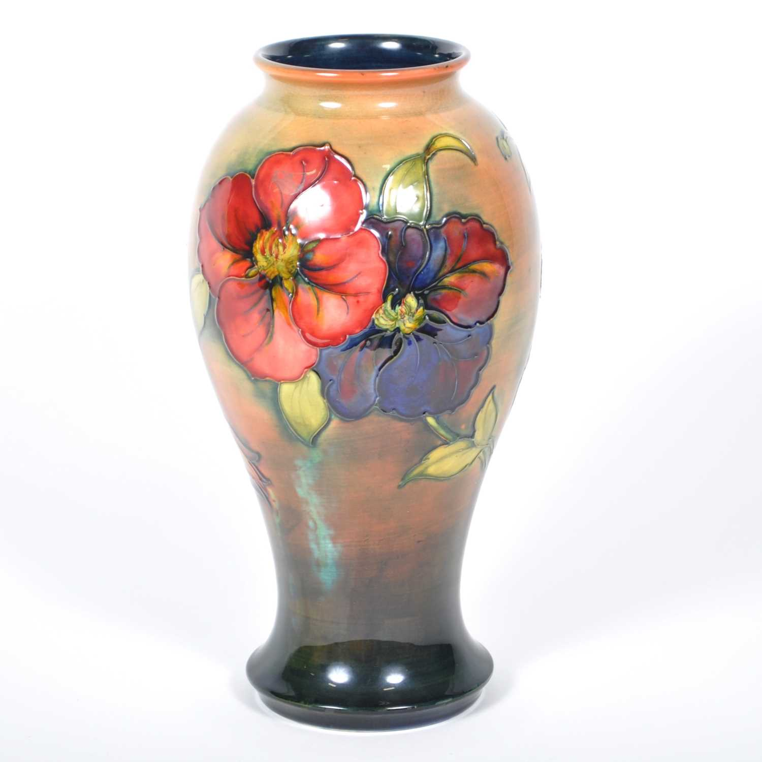 Lot 547-A Moorcroft Pottery flambé vase, 'Anemone' designed by Walter Moorcroft, circa 1950