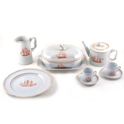 Lot 79 - An extensive Spode stone china table service, Trade Winds