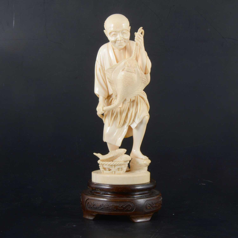 Lot 40-A Japanese carved ivory okimono, Meiji