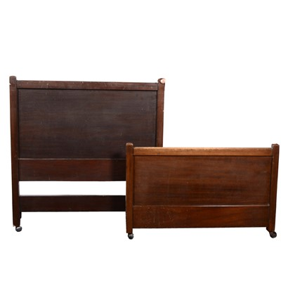 Lot 533-An Arts and Crafts style single bed, by Heal & Son, London