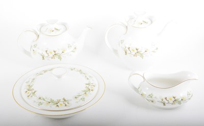 Lot 80 - An extensive Royal Doulton translucent china table service, Claremont pattern.