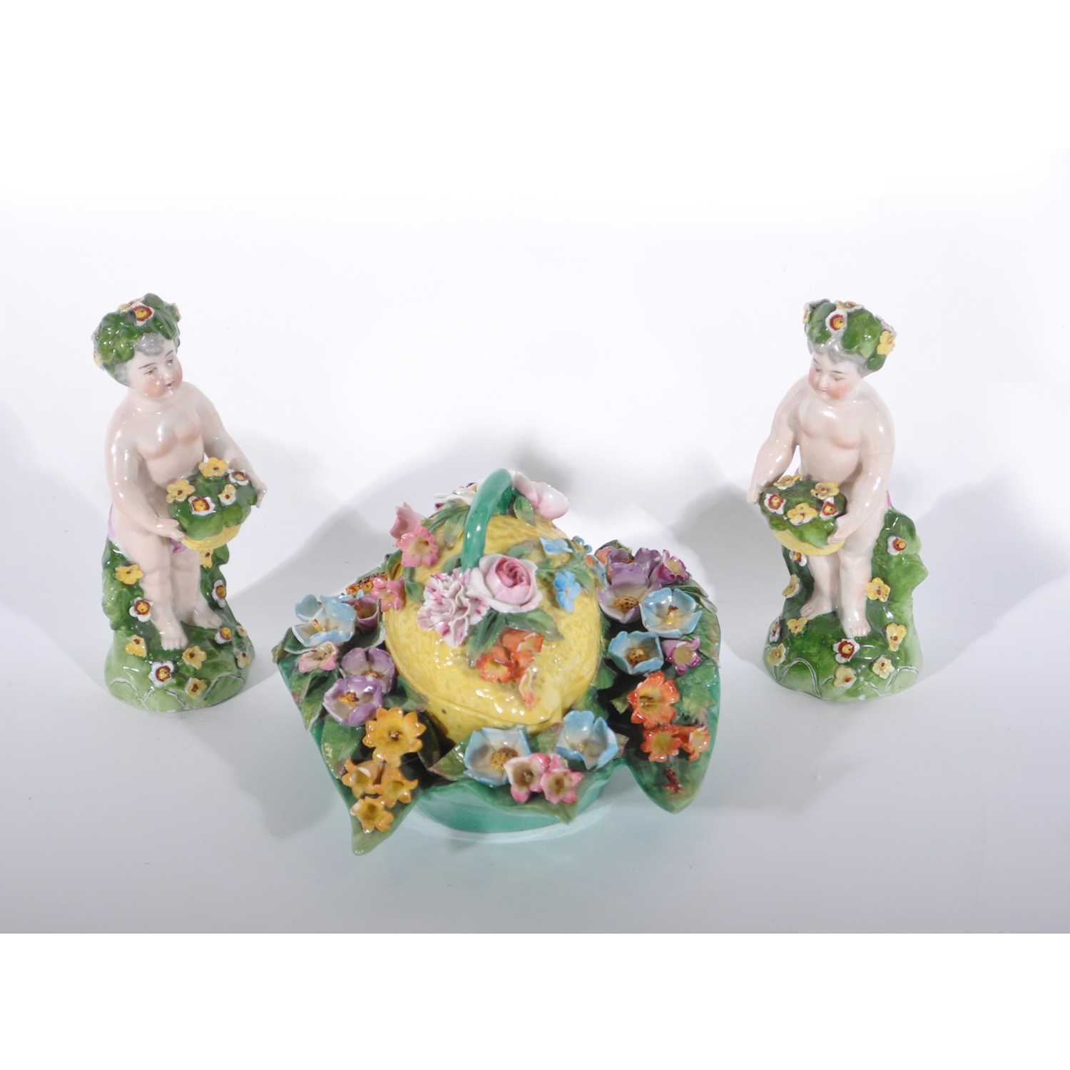 Lot 36-Pair of Continental porcelain figures of putti