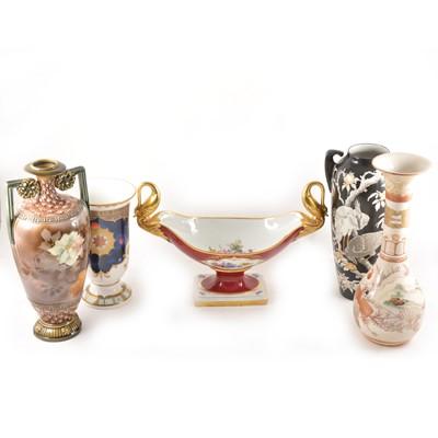 Lot 51 - Royal Worcester Millenium vase, similar box, and other ceramics