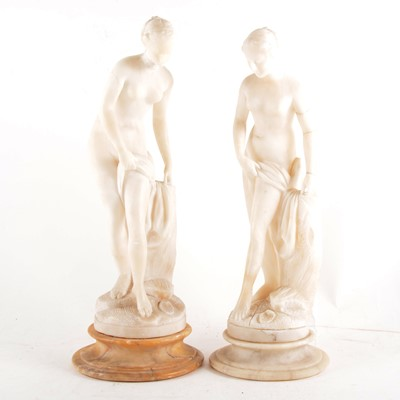 Lot 113 - Two alabaster figures, after the Antiques