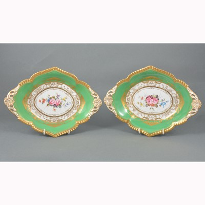 Lot 6-A pair of Royal Crown Derby dessert dishes
