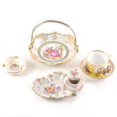 Lot 81 - A quantity of Dresden style porcelain