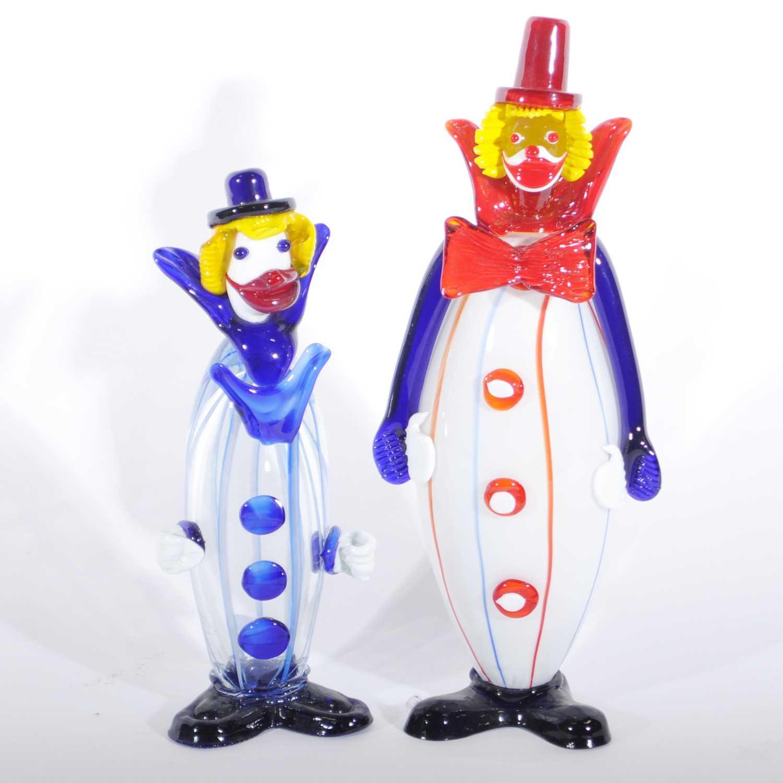 Lot 38 - Two Italian Murano glass clowns