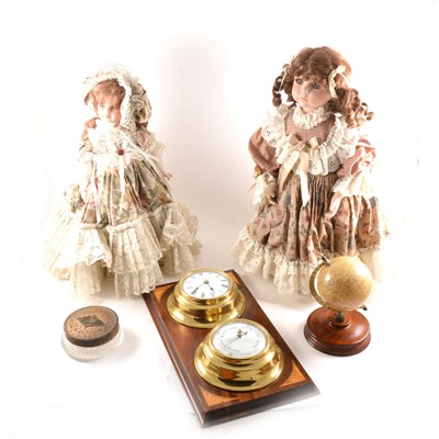 Lot 103 - Three Victorian style costume dolls, etc