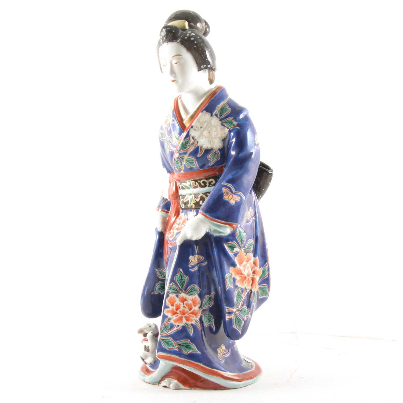 Lot 6-A Japanese porcelain Geisha figurine