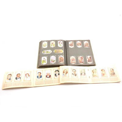 Lot 97 - An album of cigarette cards, other albums, loose cards including trade cards