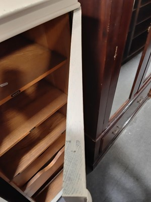 Lot 8 - A painted oak gentleman's wardrobe.
