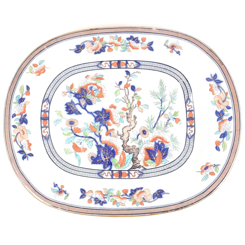 Lot 9-Pinder, Bourne & Co Dresden pattern meat plate