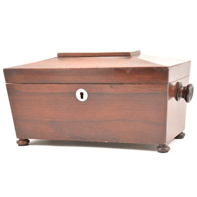 Lot 45-Victorian rosewood tea caddy