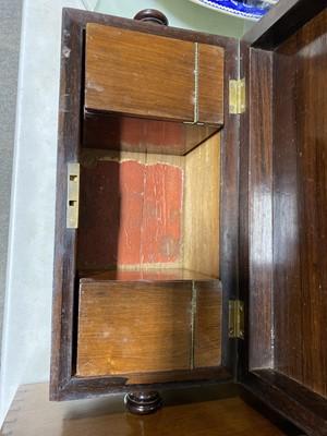 Lot 45-Victorian rosewood tea caddy