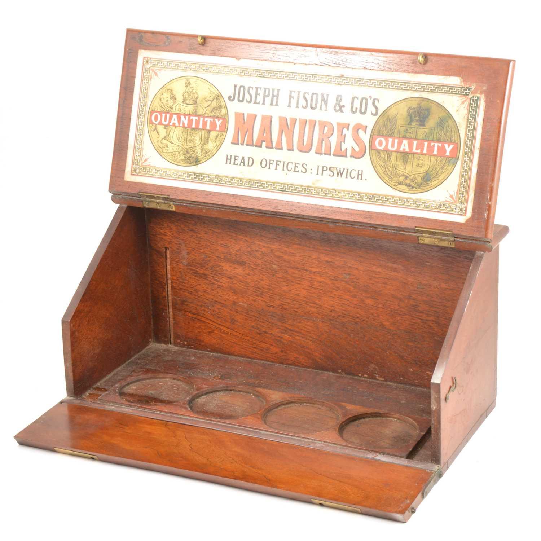 Lot 44-A 19th Century mahogany slope top samples box