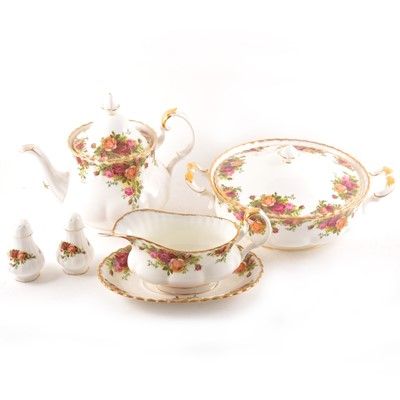 Lot 87 - Extensive Royal Albert Bone China table service, Old Country Roses pattern.