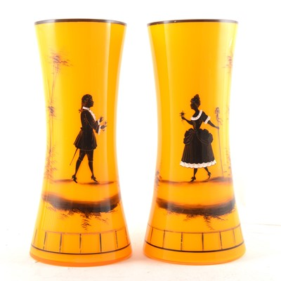 Lot 78 - A pair of Edwardian opaque glass vases