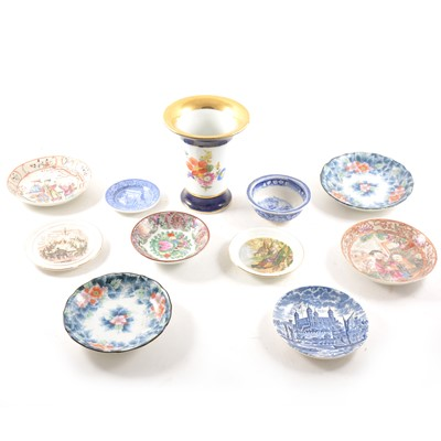 Lot 14 - Decorative china including a Meissen trumpet vase