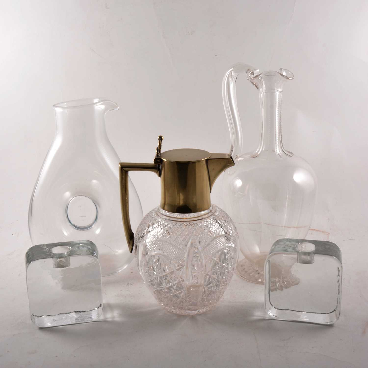 Lot 9-A number of glass decanters and ewers